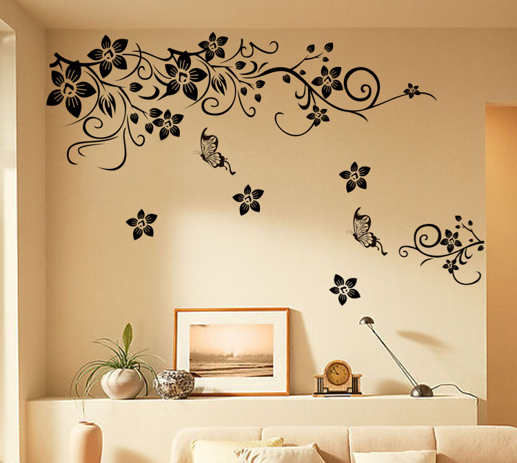Art deco black diagonal vine sitting room the bedroom TV setting ...