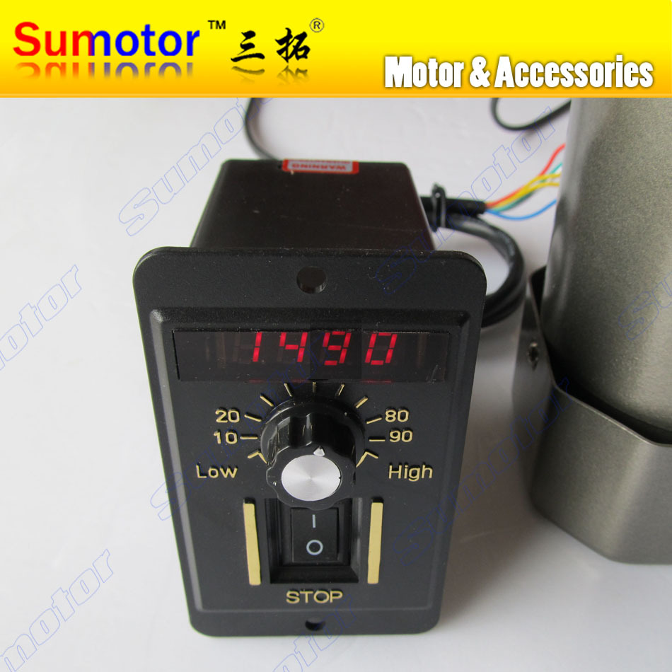 AC 220V Digital dispaly motor electrical speed control Governor 25W 40W 60W 90W 120W 200W Adjustable regulator controller switch 220v ac digital speed governor speed control unit motor speed regulator 6w to 200w for selection