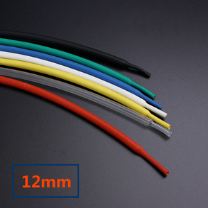 1 Meter/lot heat shrink wrap sleeves tubing tube PE 12mm cable sleeve wape wire ration 2:1(China)