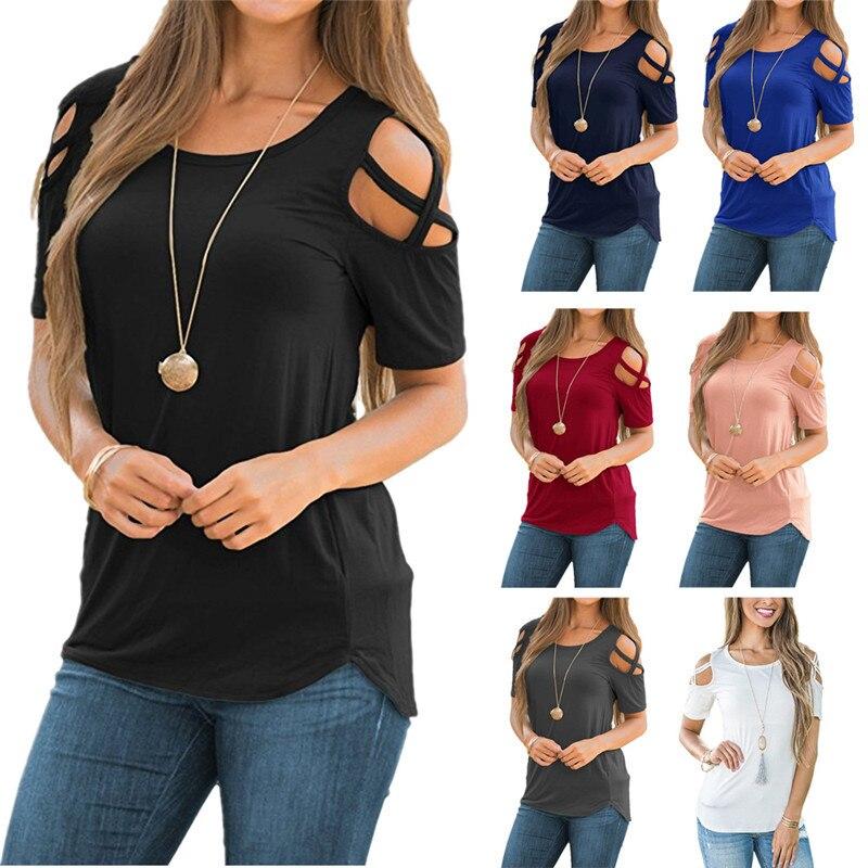 Women Black Tops Summer T Shirt 2019 Short Sleeve O-Neck Casual White T Shirt Plus Size Cotton Top Fashion Clothing High Quality