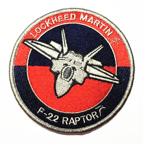 US $4 5 |LOCKHEED MARTIN Patch Embroidery Raptor F22 Tactical Patch  Military Morale Armband Hook And Loops Army Combat Badge-in Patches from  Home &