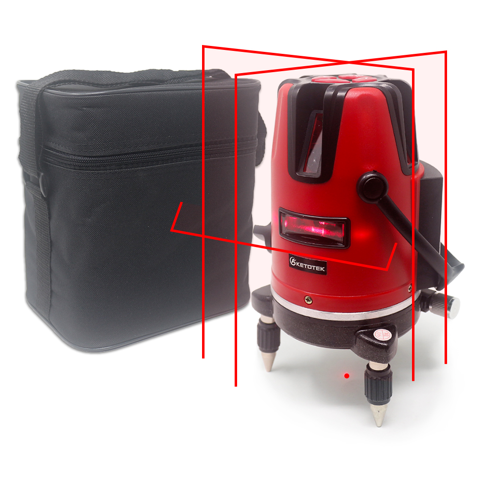 5 Red Lines Laser Level Self leveling Horizon Vertical Cross Line 360 Degree Rotary 6 Poins