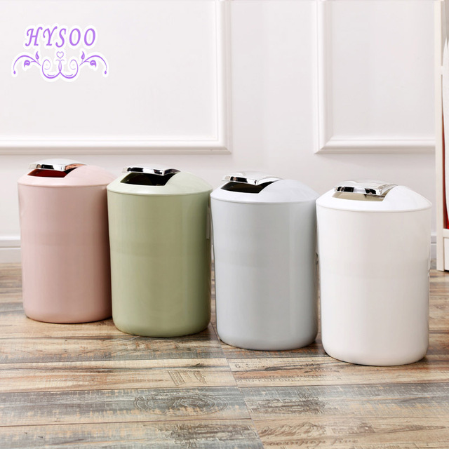 Shaking Lid Trash Creative Home Tipping Small Baskets Toilet Cans Bedroom Covered Can