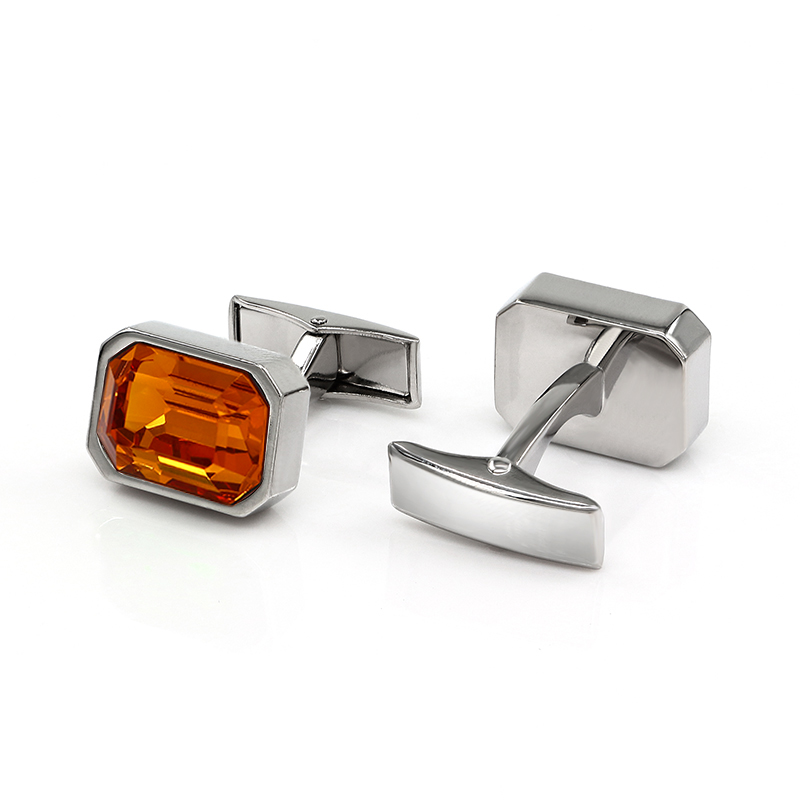 Orange Crystal Cufflinks Wedding Gifts For Groomsmen A76 A848