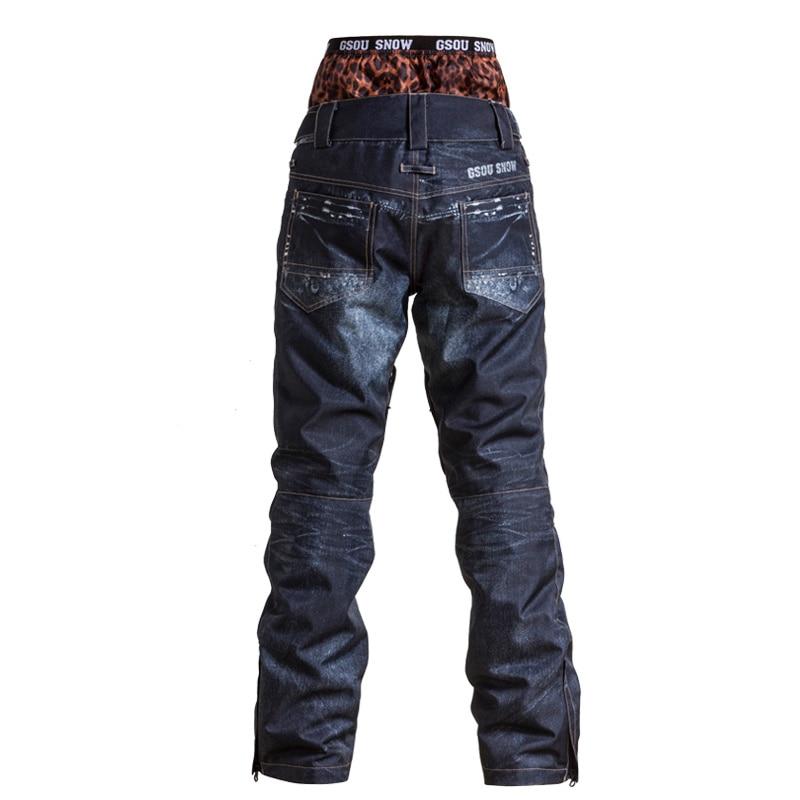GSOU pantalon de Ski de neige femme pantalon de Snowboard hiver pantalon de Ski extérieur imperméable coupe-vent pour femme taille XS-L