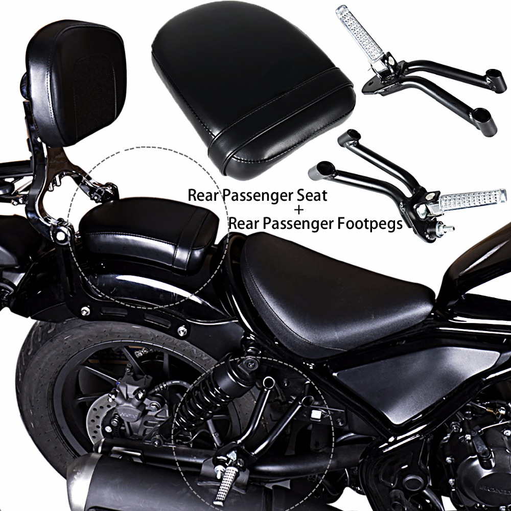 Rear Passenger Seat&Bracket With Footpegs For 2017-2018 Rebel CMX 300 &ABS Models