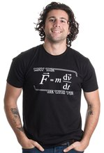 2017 newest  streetwear May the (F=mdv/dt) Be with You | Funny Physics Science Unisex T-shirt size S-4XL