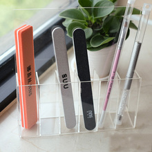 Beauty Tools New Transparent Nail File Storage Rack Display Stand Acrylic Manicure Shelves Nail Pen Brush Holder
