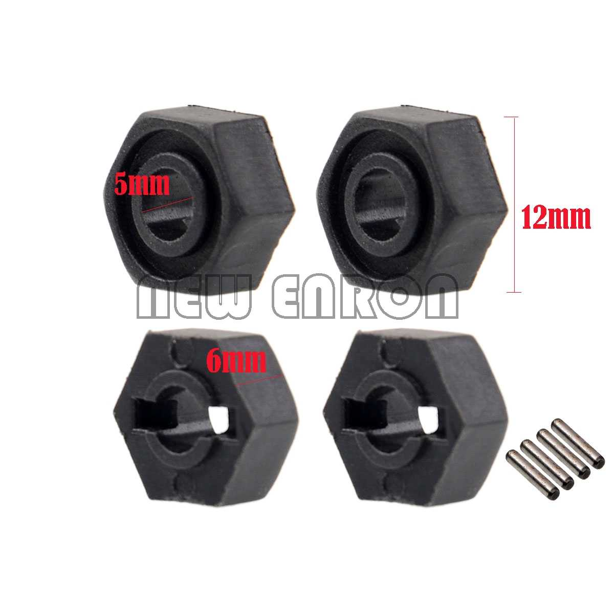 ใหม่ ENRON ล้อ Hex W/Pins (2 * * * * * * * 10) R86050 RC Crawler RGT 1/10 Monster Truck Off Road Rock Cruiser EX86100