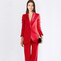 Заказ темно серый Для женщин Бизнес костюмы Для женщин офисная одежда Штаны Костюмы для торжественных случаев Для женщин Рабочая одежда Ко