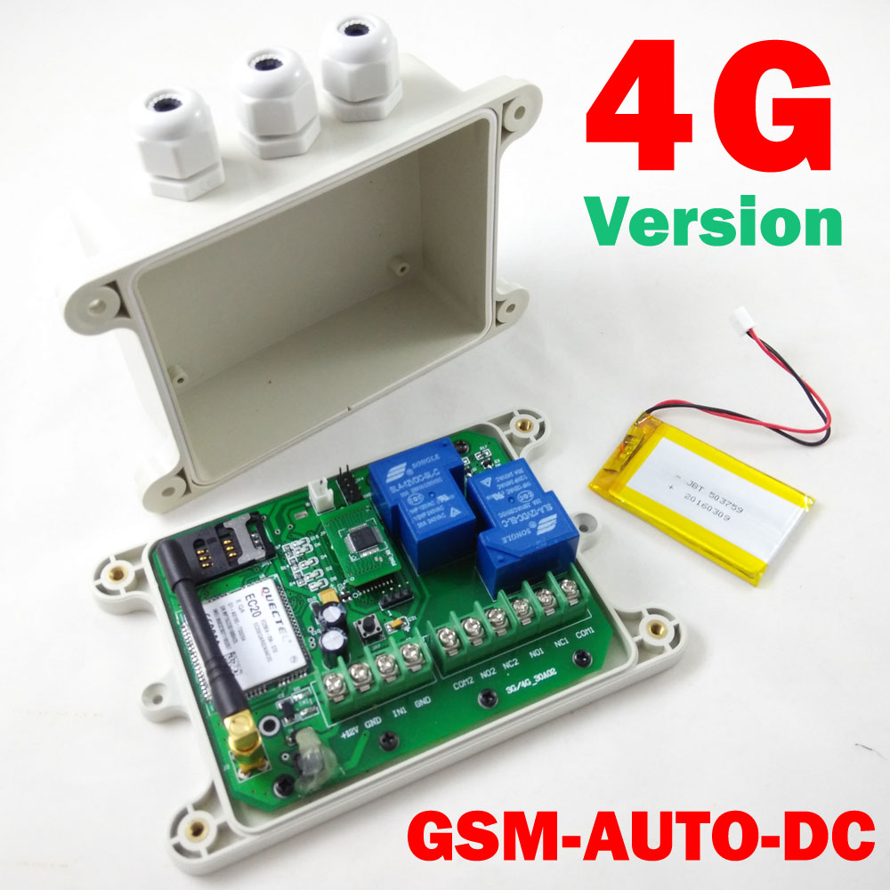 Free shipping 4G Version GSM-AUTO GSM Remote Relay Switch controller ( Double Relay outp ...