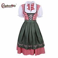 Cosplaydiy Beer Festival Costume Women S German Dirndl Maid Dress Oktoberfest Cosplay Costume J15