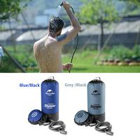 11L Pvc Portable Shower Outdoor Camping Shower Hiking Hydration Water Bag Water Tank Waterbag Black Blue Color