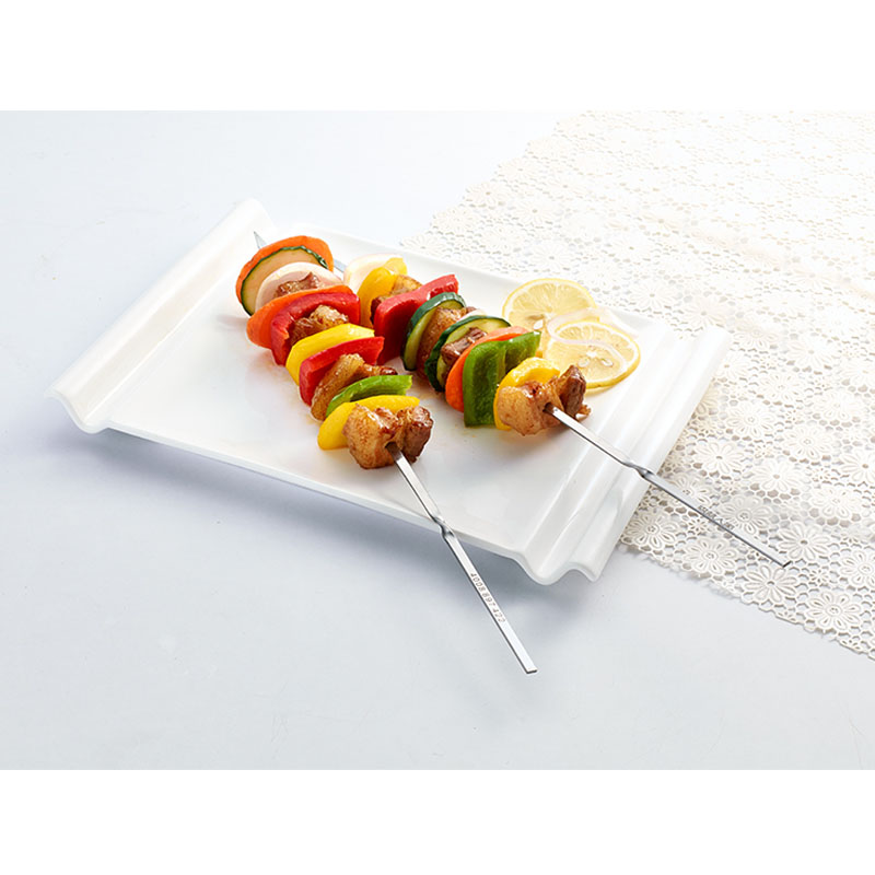 Free shipping Stainless Steel BBQ Skewers,10pcs x 30cm (11.8) Barbecue Needle, Shish Kabeb Stick For Outdoor Grill KC5014