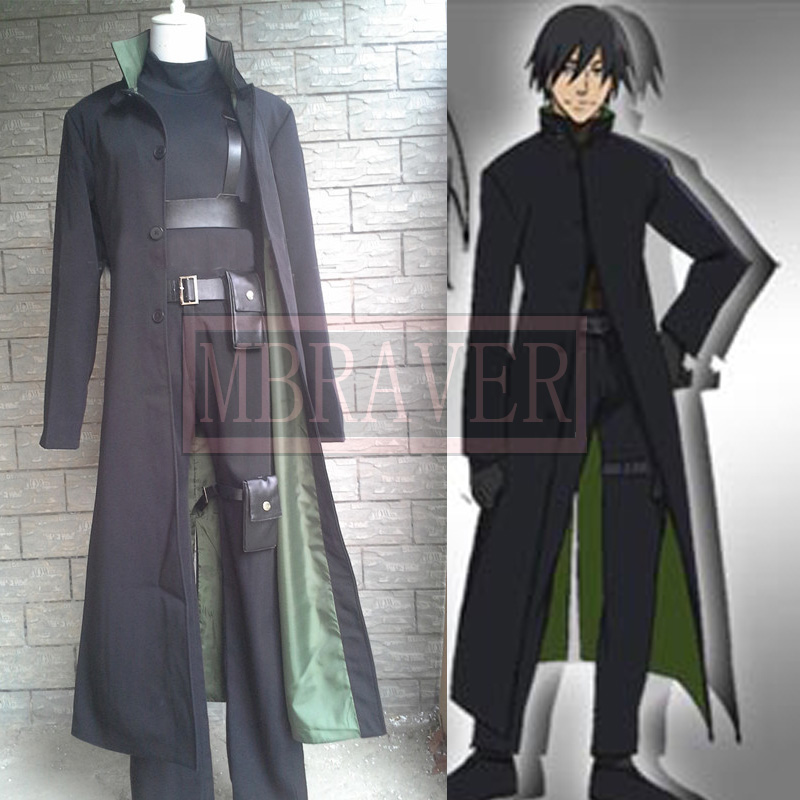 Darker Than Black Hei Cosplay Costume Black Men's Costumes Any Size