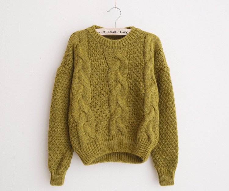 Women Sweaters Warm Pullover and Jumpers Crewneck Mohair Pullover Twist Pull Jumpers Autumn 2017 Knitted Sweaters Christmas B113