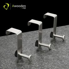 Awooden Single over the Cabinet Door Hook Stainless Steel S Hook Modern Movable for Bath Shower Towel Kitchen Towel-2 or 4 packs