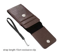 Verticial Rotary Man Belt Clip Strap Leather Mobile Phone Case Card Pouch For Xiaomi Redmi Note