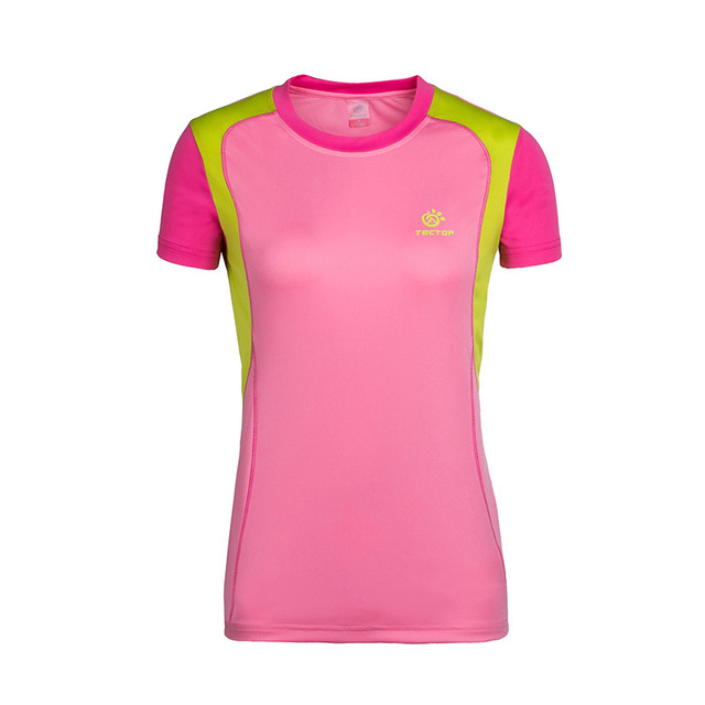 womens quick dry short sleeve running t shirt women professional fitness sports gym exercise t-shirt tees tops TS5004