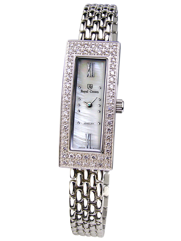 Royal Crown Jewelry Watch 2311LS Italy brand Diamond Japan MIYOTA platinum Pearl Bracelet Rhinestone Crystal кольцо royal diamond