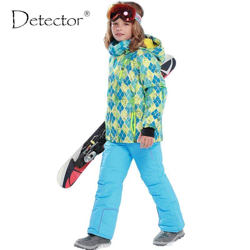 Новое поступление, брендовые детектор Детские Лыжные и сноубордические костюмы утеплённая ветронепроницаемая и водонепроницаемая куртка ...