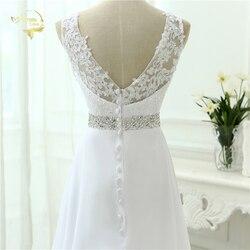 2019 Chinese Hand Made Beading Wedding Dress Chiffon Low Back Sexy Applique Lace Beach Vestidos De Novia Robe De Mariage JL0097 6