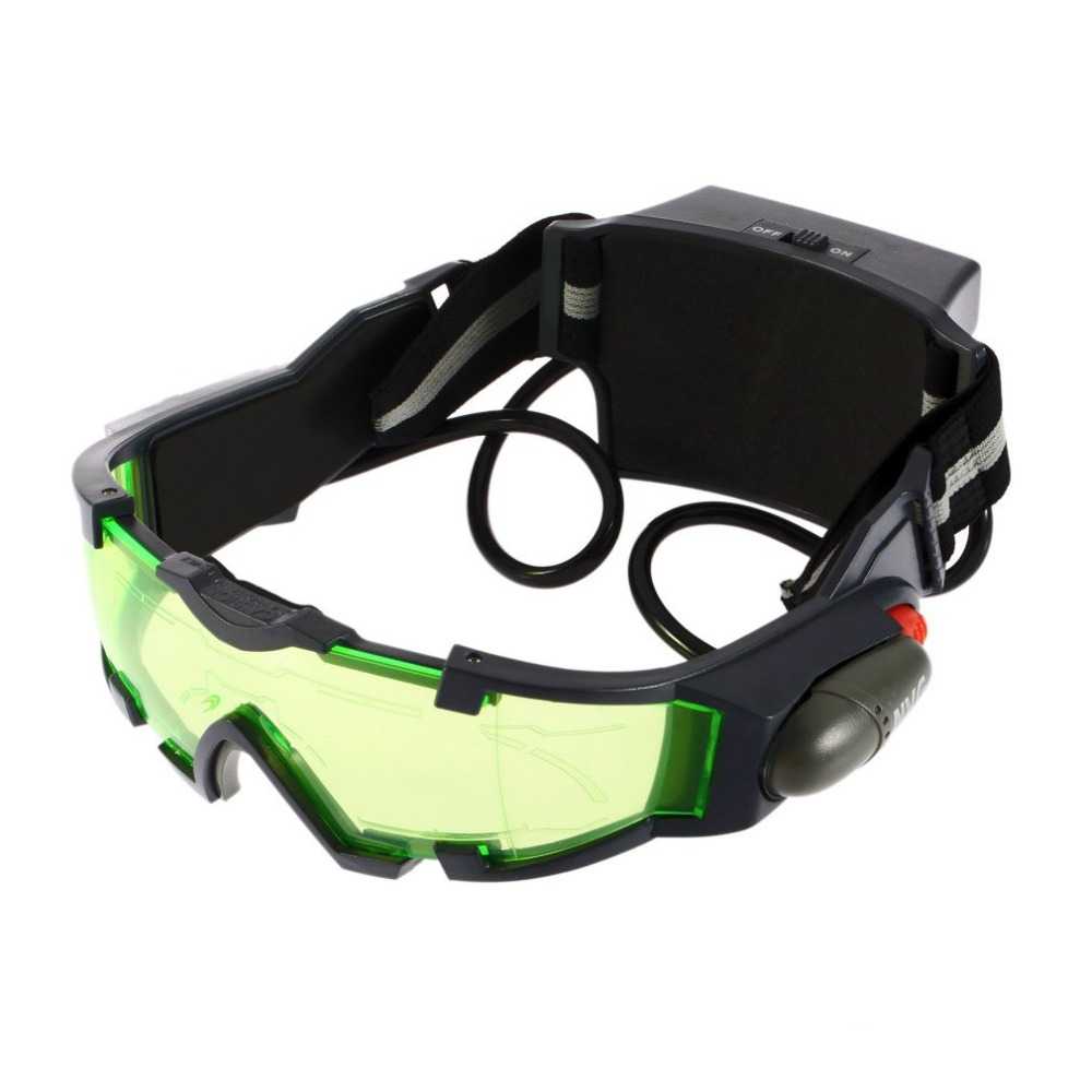 Glasses Elastic-Band Green-Lens Night-Vision Adjustable Safety-Goggles Unisex Eyeshield