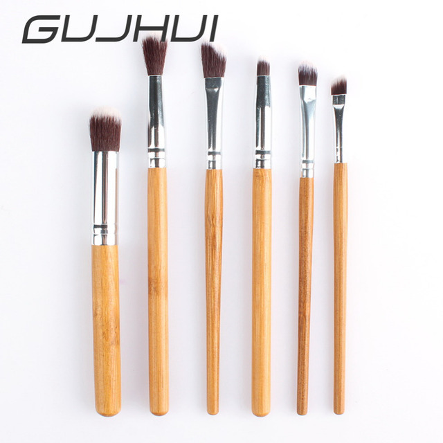 6pcsset Bamboo Professional Eye Shadow Makeup Brushes Pro Eye Brush