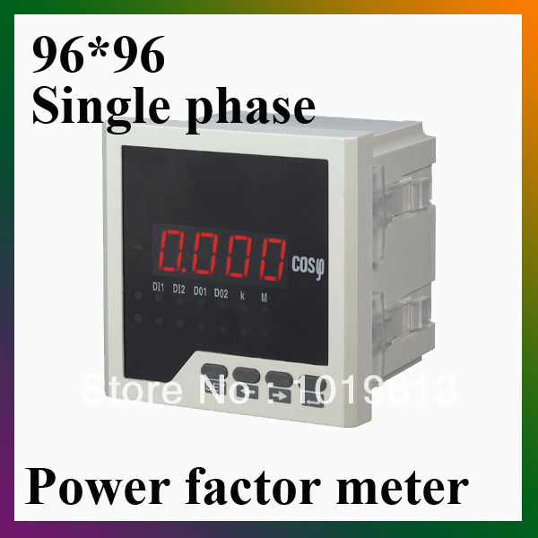 single phase LED digital power meter power factor 96*96mm me 3h61 72 72mm led display 3 phase digital power factor meter support switch input and transmitting output