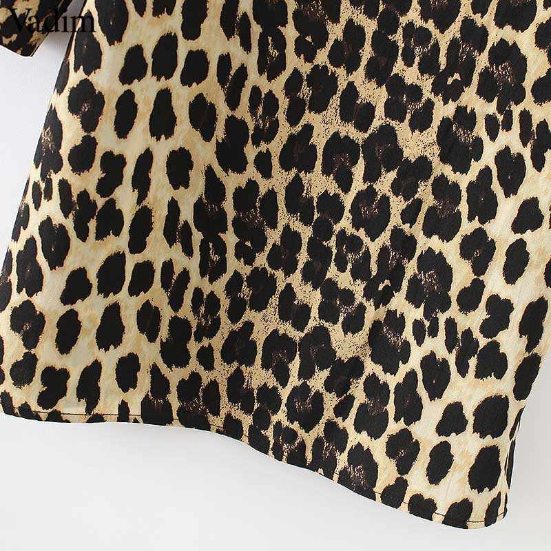 ... Vadim women Leopard V neck dress animal skin pattern chic long sleeve  retro vintage casual straight 472e28601