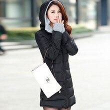 Warm Winter Jackets Women Fashion cotton padded Parkas Casual Hooded Long Coat
