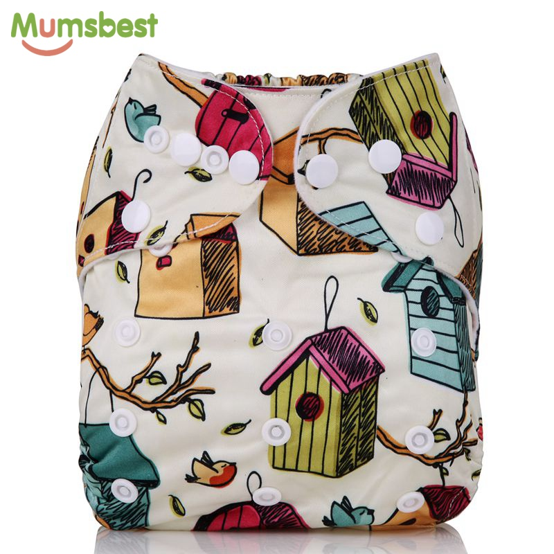[Mumsbest] 2016 New Arrival Baby Washable Cloth Diaper Cover Adjustable Baby Cloth Nappy Reusable Quick Drying Diapers