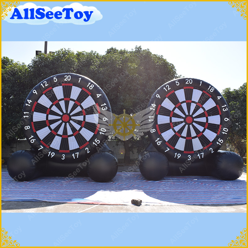 Giant PVC Darts Football Inflatable Foot Darts Carnival Game Soccer Dart , Inflatable Dart Board ,Big Balls Blower Included dart board white writing tablet w 2 dart pen multicolor