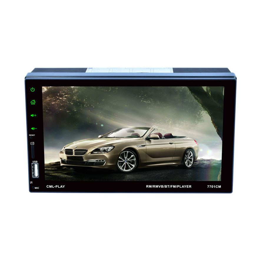 New Brand multi-language Double 2 DIN Car 7 MP3 MP5 Multimedia Player Stereo FM Radio Player Bluetooth USB AUX Touch Screen new for apple ipod nano7 7th generation 2 4 ips touch screen new 64gb music fm video mp3 player a variety of language