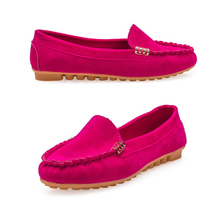 Hot Sale 2016 Summer Woman Flats New Fashion Pure Color Wild Concise Flat Casual Shoes Round Toe Comfortable Female Shoes DT81 (10)