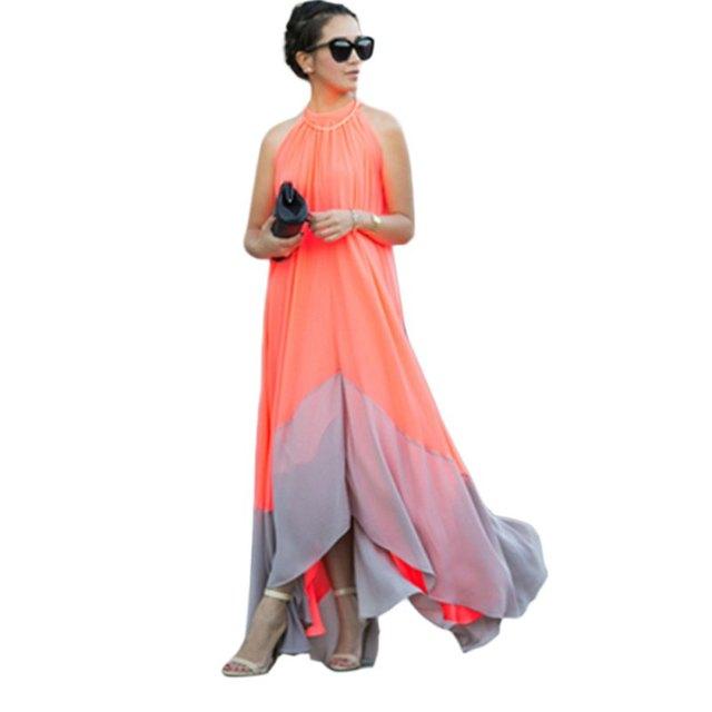 Sexy Summer Boho Long Maxi Evening Party Dress Women Beach Dresses Chiffon  Dress S-XL 1bbe7afb2c9b