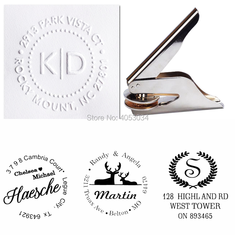 Custom Embosser Stamp , Personalized Address Embosser, Return  Address Embosser Seal , Family Name Embossing Seal