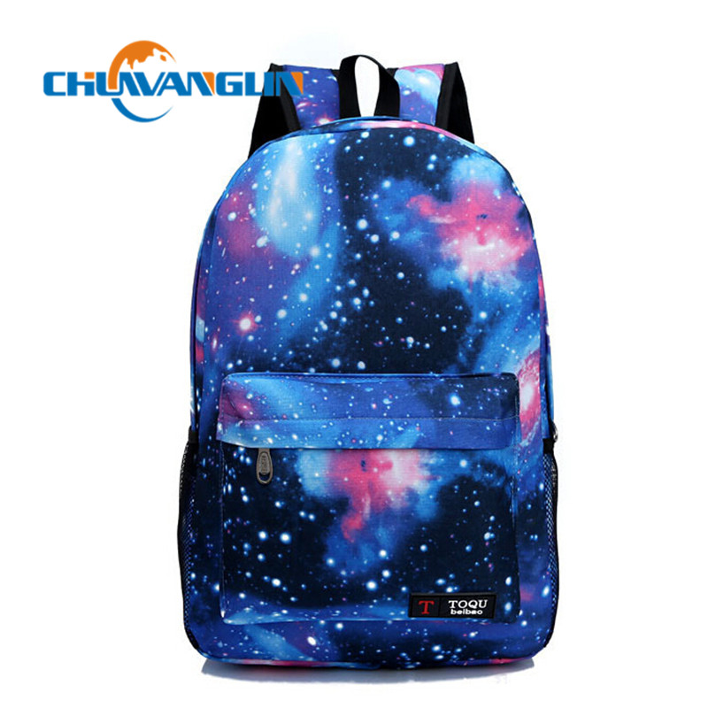 Chuwanglin Women Backpack Galaxy Stars Universe Space School Book Shoulder Bag Printing Backpack Travel Backpacks QG03206