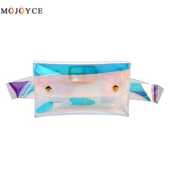 Women Detachable Belt Clear Waist Packs Waterproof Transparent Hologram Laser PVC Chest Bag Holographic Handbags holographic belt purse