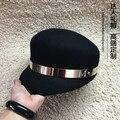 2015 chapéu de lã masculina das mulheres full metal anel m de moda pequenos beirais chapéu de feltro