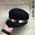 2015 woolen hat male women's full metal ring m fashion small eaves fedoras