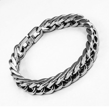 BC Rock Jewelry Men Bracelet Silver Stainless Steel & Bangle Male Accessory Hip Hop Party