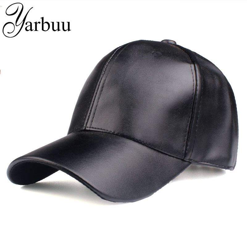 High-Quality Pu-Cap Hip-Hop-Fitted-Cap Baseball-Caps Women Snapback New-Fashion YARBUU