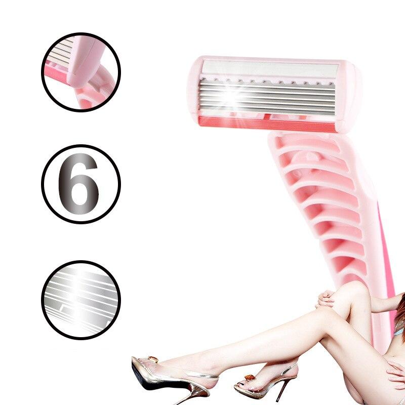 2pcs/lot High Quality Women's Safety Razor For Bikini Body Face Underarm Hair Removal #2