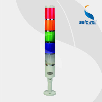 IP44 25 W 5 katmanlı Renkli Sinyal Kulesi Lambası/Yüksek Performanslı Endüstriyel ABS Sabit Işık Uyarı Işığı (LTA205-5T)