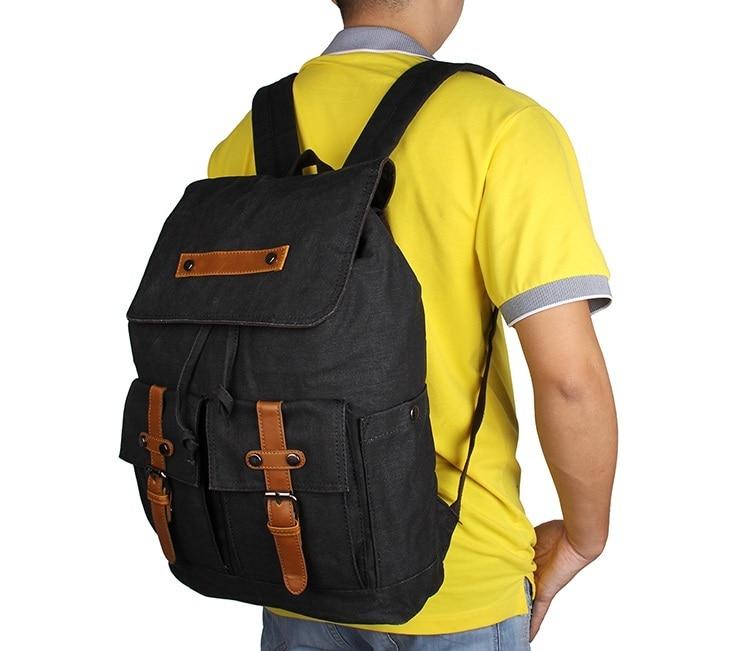 J.M.DJ.M.D Durable Canvas Laptop Backpack School Backpacks Leisure Rucksack Travel Backpack For Teenager 9026A/K/N/C