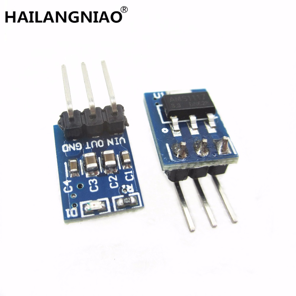 10PCS 5V To 3.3V For DC-DC Step-Down Power Supply Buck Module AMS1117 LDO 800MA