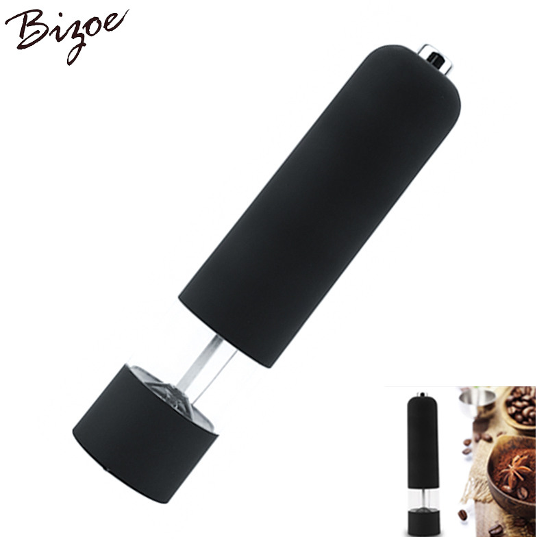 NEW BEST Hot Kitchen Tools Electric Salt Spice Pepper Herb Mills Grinder with LED Light pepper mill pepermolen Black