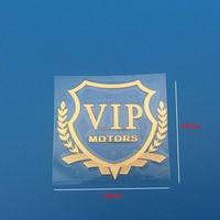 diy car 3D VIP MOTORS logo metal car logo badge decals door and window body car decoration DIY sticker car decoration style (3)