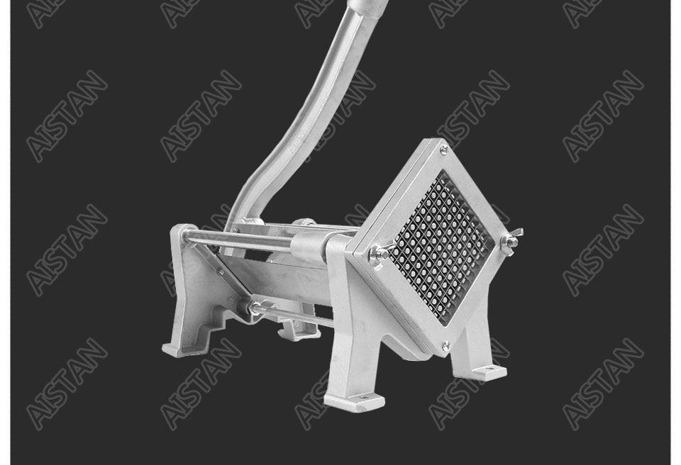 ST1 commerical manual aluminum die-casting potato chipper cutter potato chips cutting machine 13